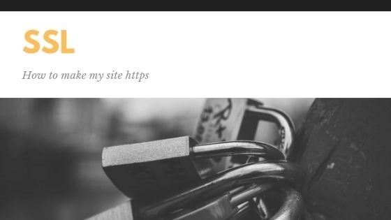 How to make my site https