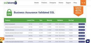 The ssl store prices